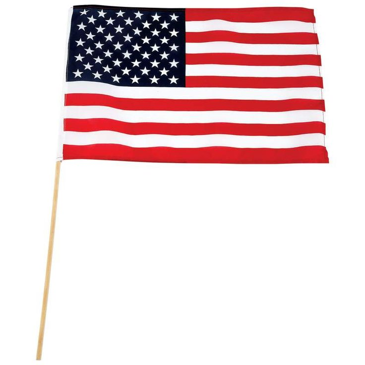 "10pc 18"" x 12"" United States Flag Set with 2' Wooden Flag Poles 10pc 18"" x 12"" United States Flag Set Features 100% polyester and 2' wooden flag pole. Not sold individually"
