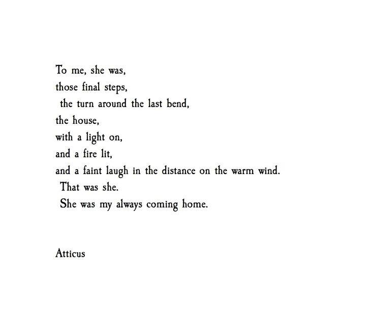 'My Coming Home' @atticuspoetry #atticuspoetry