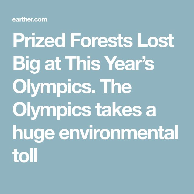For the next winter games in South Korea, a swath of virgin forest was razed to accommodate ski runs. For the 2022 Winter Olympics in Beijing, a ski run is set to wipe out part of the Songshan National Nature Reserve. And let's not forget the 240 acres of Atlantic Forest that were leveled for the 2016 games in Rio de Janeiro to make way for a golf course, or the new highway cut through BC mountains to improve traffic flow for the 2010 games in Vancouver.