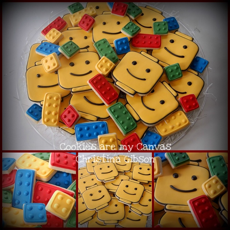 Lego Cookies with tutorial by SugarBelle *Ü*