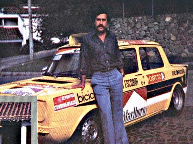 El Patrón Escobar, con su Simca 1000 Rallye.