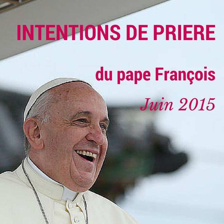 En ce mois de juin 2015, l'intention de prière universelle du Pape François est pour les migrants et les réfugiés. Son intention de prière pour l'évangélisation est pour les vocations. Intention de prière universelle – Les migrants et les réfugiés Prions...