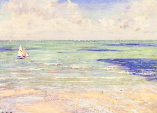 Gustave Caillebotte (1848-1894), Seascape, Regatta at Villers, ca. 1880-84 / mar, playa, oceano