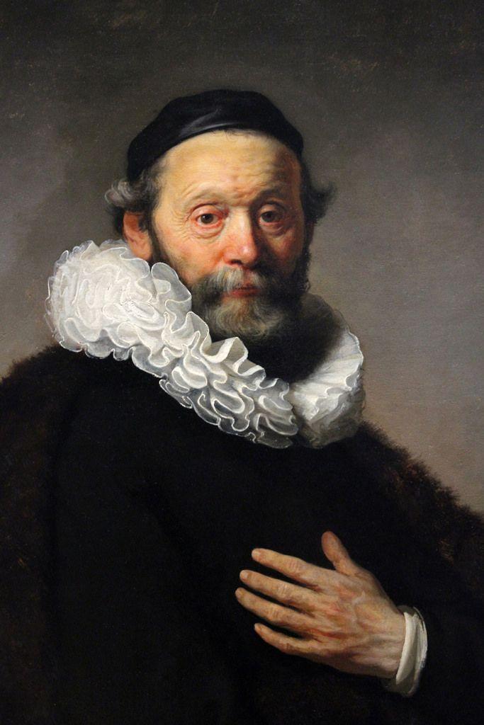 Portrait of Johan Wtenbogaert, by Rembrandt van Rijn, 1633
