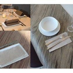 Manteles en hojas de  papel ecológico de la gama GOGREEN que cuentan con la etiqueta ecológica europea. Una respuesta al consumo respetuoso con el medio ambiente. Disponible en diferentes medidas y colores.  http://www.ilvo.es/10649-mantel-papel-en-hojas-gogreen.html