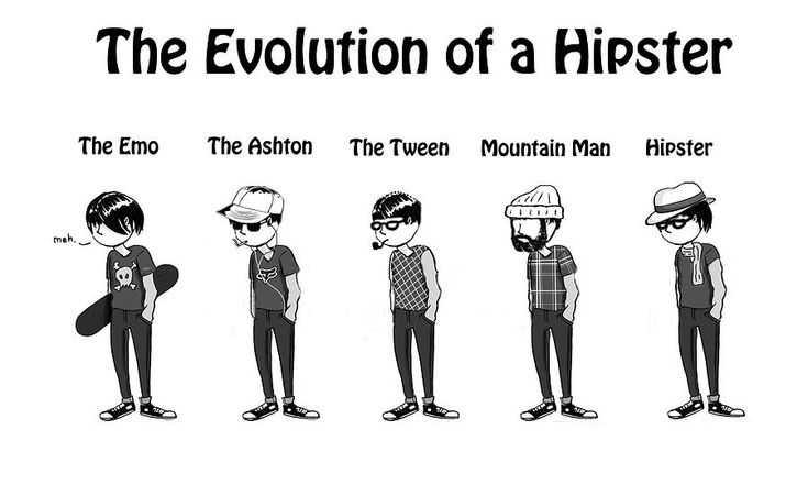 The evolution of a Hipster