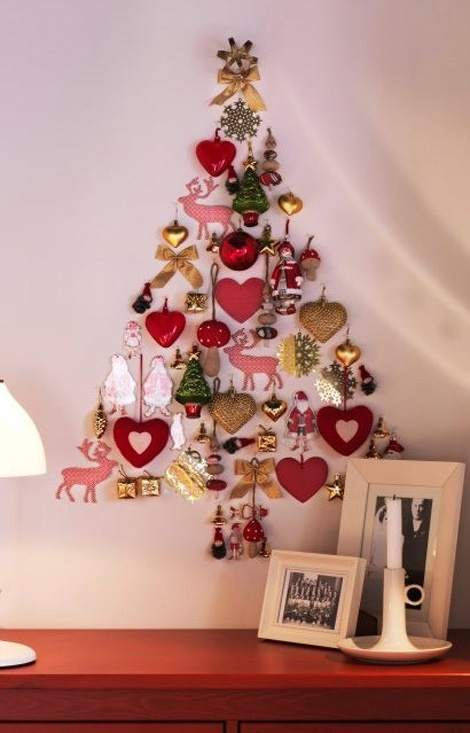 Great idea if you don't have the space to put up a giant tree!