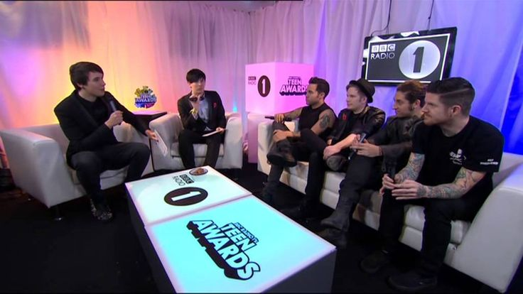 Dan & Phil with Fall Out Boy at the Teen Awards 2013 Fall Out Biscuit