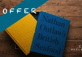 Great offer! Signed limited edition Nathan Outlaw's British Seafood, Robert Welch filleting knife and knife sharpener.