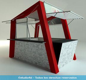 Islas para centro comercial - modulos comerciales - Estudio4d - Bogotá - Colombia
