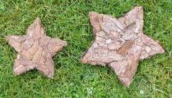 Bastelanleitung Stern mit Baumrinde - Basteln und Dekorieren