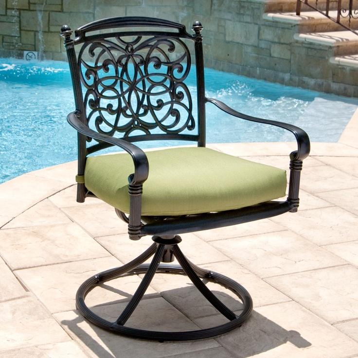 renaissance 8 pc outdoor patio dining set with premium