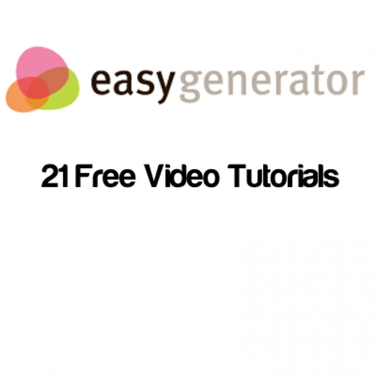 Easygenerator Free Video Tutorials  eLearning professionals are rapidly adopting Easygenerator, an online free authoring tool. This is why we created a collection of Free Easygenerator Video Tutorials! VivaeLearning!  http://elearningindustry.com/easygenerator-free-video-tutorials