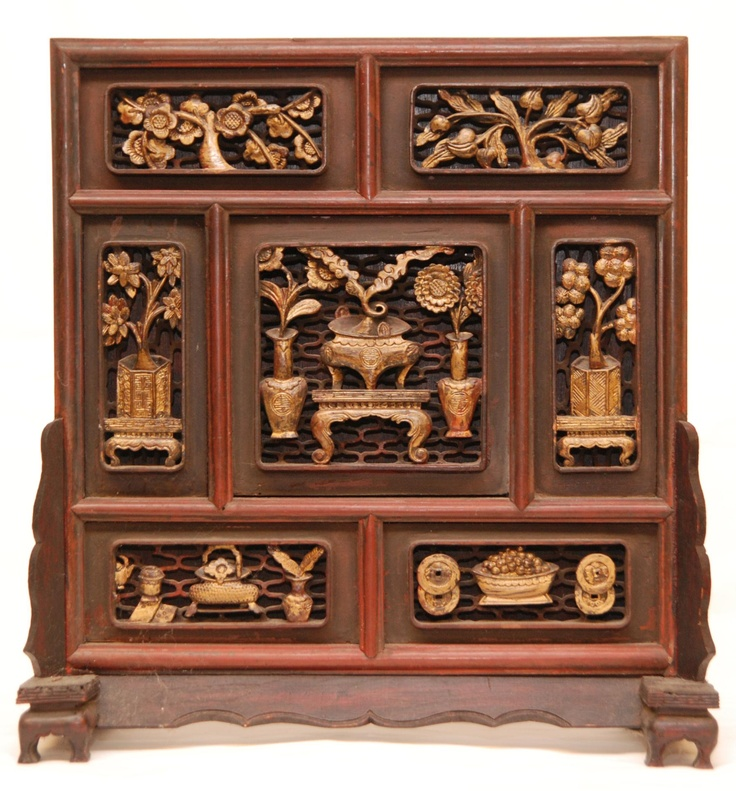 Mother Of Pearl Inlay Wooden Mini Folding Screen Asian: 240 Best Images About CARVED WOODEN PANNELS On Pinterest