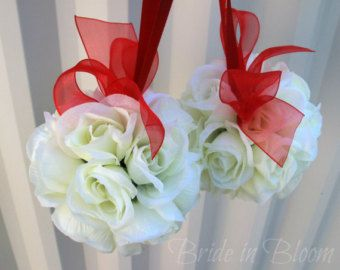 Wedding flower ball pomander Wedding by BrideinBloomWeddings