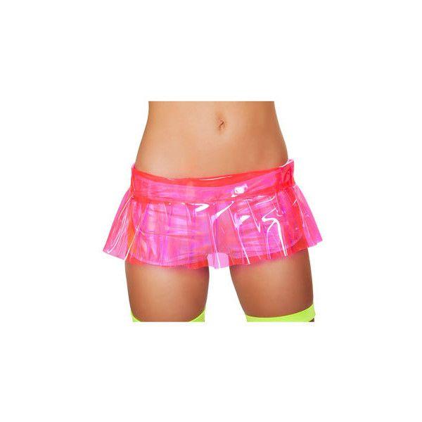 Pleated Pink Vinyl Skirt (36 AUD) ❤ liked on Polyvore featuring skirts, vinyl skirting, pink vinyl skirt, pink skirt, knee length pleated skirt and pink pleated skirt