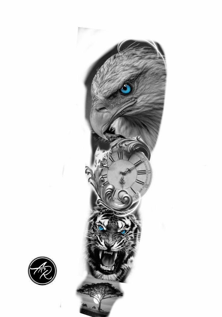 Eagle Tattoo Forearm, Cool Forearm Tattoos, Eagle Tattoos, Wolf Tattoos, Arm Tattoos For Guys, Animal Tattoos, Leg Tattoos, Body Art Tattoos, Tattos