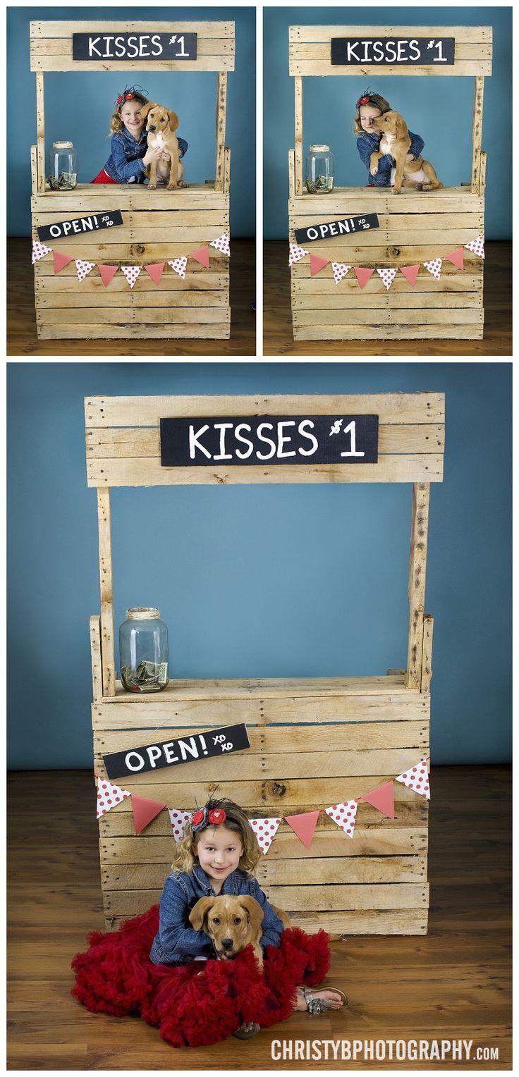 Children, girls portraits, studio photography, pet, Valentine's, kissing booth, mini session www.christyBphotography.com