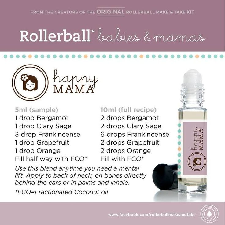 Essential Oils Roll On Recipe For Happy Mama For More