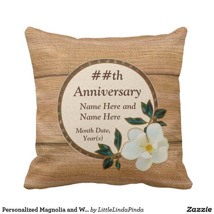beautiful lines for5th wedding anniversary%0A Personalized  th Wedding Anniversary Gift Ideas  Faux Wood Pillow  CLICK   https