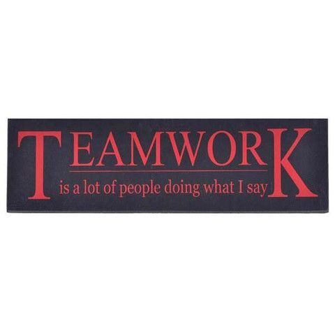 Plaque - Teamwork