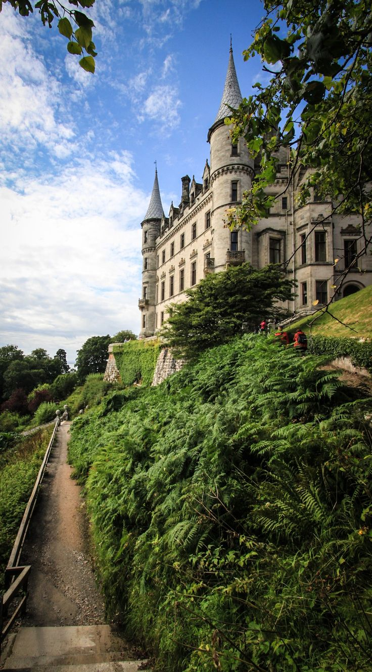 dunrobin castle, sutherland, in the highland area of scotland