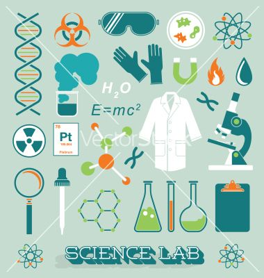 Science lab objects and icons vector by JamesDaniels on VectorStock®