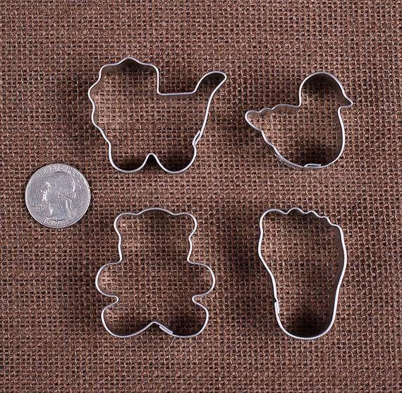 MINI New Baby Cookie Cutter Set: Mini Duck Cookie Cutter Mini