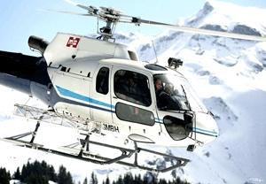 Hélicoptère au Mont-Blanc