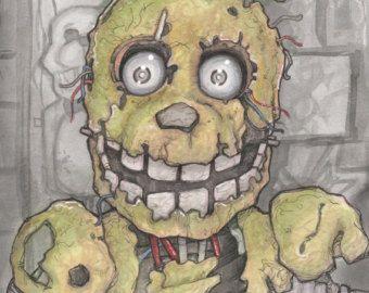Vijf nachten bij Freddy's Spring val Poster afdrukken