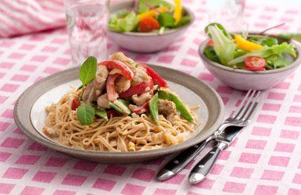Bönpasta är framställd av bönor i stället för vetemjöl. Den är mer proteinrik och innehåller mindre kolhydrater än vanlig – och inget gluten. Kan ersättas med vanlig pasta.