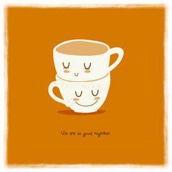 adaland.weebly.com #adaland #illustration #cups #love #together