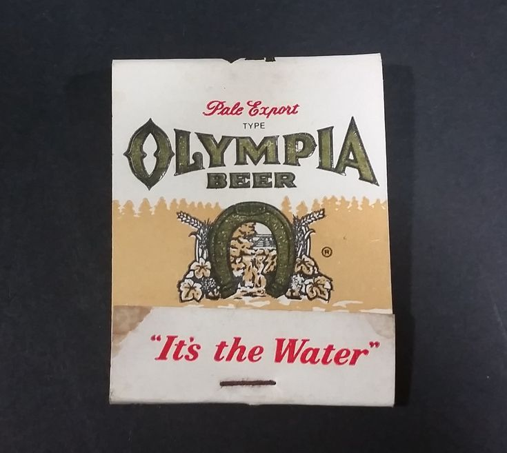 """Vintage Oly Olympia Beer Pale Export Type """"It's The Water"""" Promotional Match Pack - Full https://treasurevalleyantiques.com/products/vintage-oly-olympia-beer-pale-export-type-its-the-water-promotional-match-pack-full #Vintage #Oly #Olympia #Brewing #Brewer #Brew #Company #Companies #Pale #Export #Ale #Beer #ItsTheWater #Promo #MatchPack #Washington #Breweriana #Collectible #Matches"""