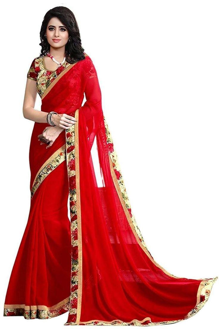 Kapadewala Designer Red  Silk Saree For Women