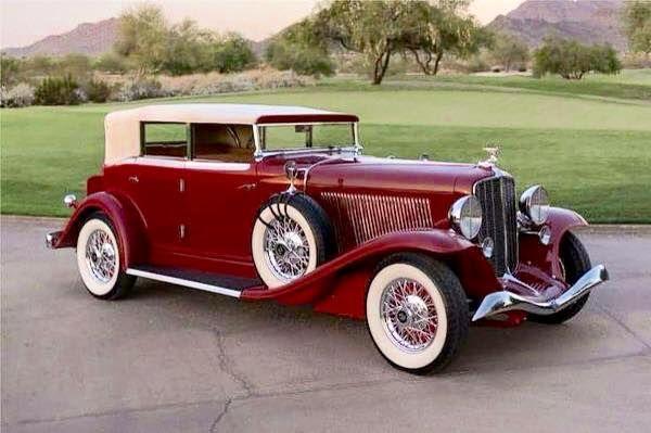 1933 Auburn Model A 161 Salon V12 Convertible Phaeton