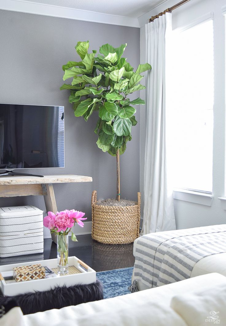 Summer Home Tour Tips For Simple Living Gray Accent WallsFiddle