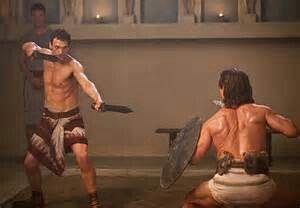 Crassus (Simon Merrells) from Spartacus