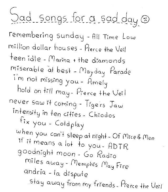 Sad songs for a sad day | Music | Pinterest | Sad Day ... Sad Song Lyrics