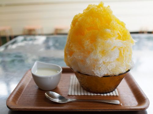 Japanese Shaved Ice Dessert - Yuzu Orange