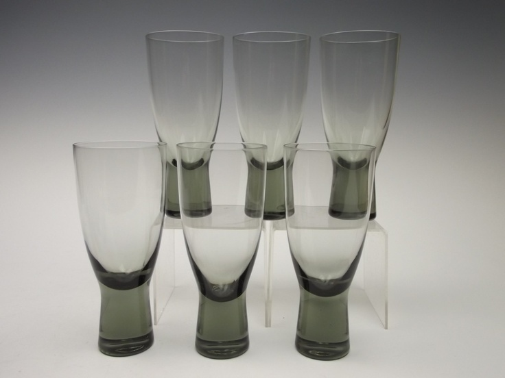 Set of 6 Holmegaard 'Canada' beer glasses by Per Lutken. £85.00, via Etsy.