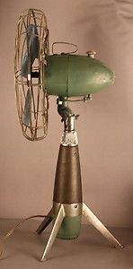 1950s-60s European-made rocket style table fan - space age/atomic age influence