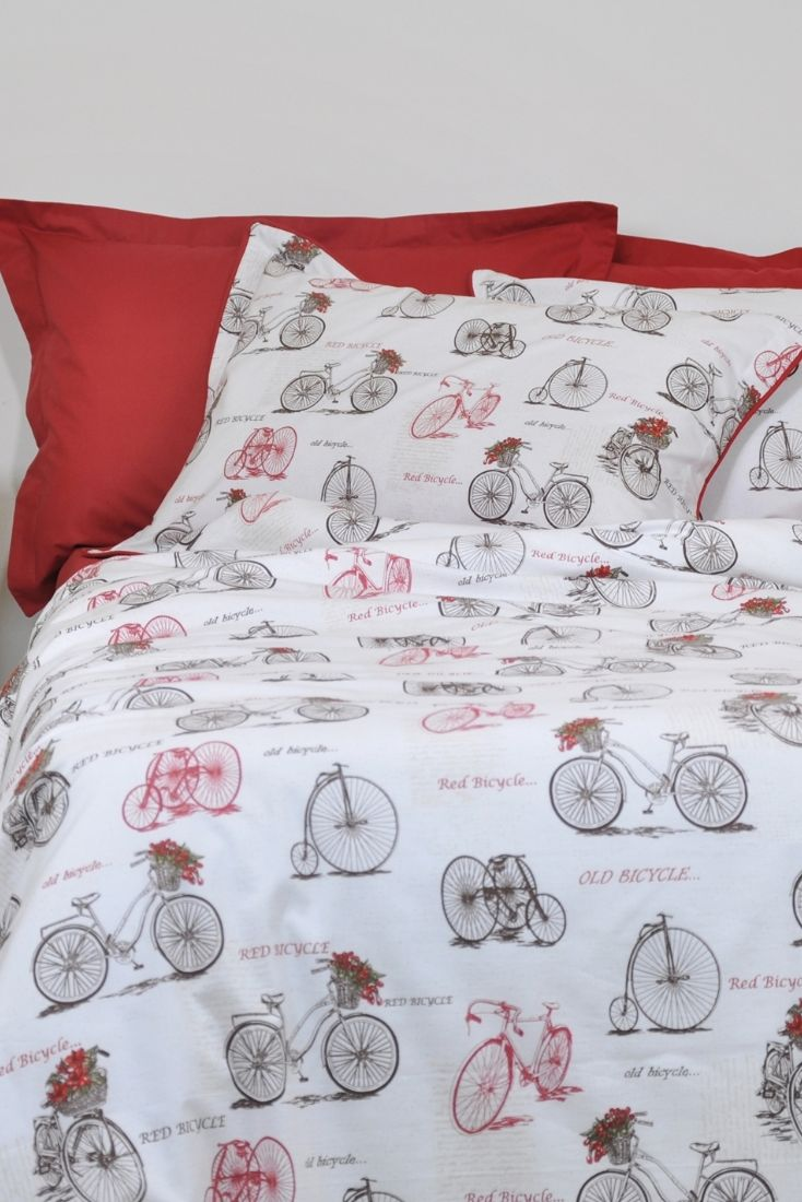 Pcs peter pan bedding set duvet cover fitted sheet pillow case worl - Old Bicycle Duvet Cover Set In Full Queen King Size Sepia Brown Burgundy Red White Vintage Bike Print Bedding Duvet Cover Pillowcases