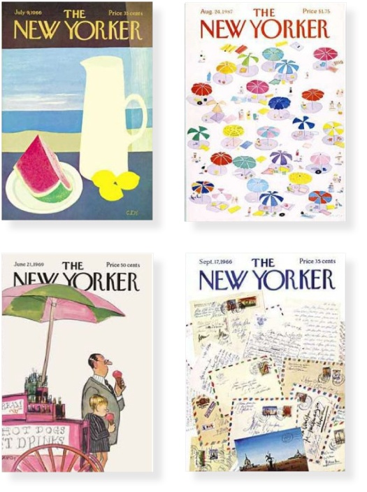 summertime covers of The New Yorker