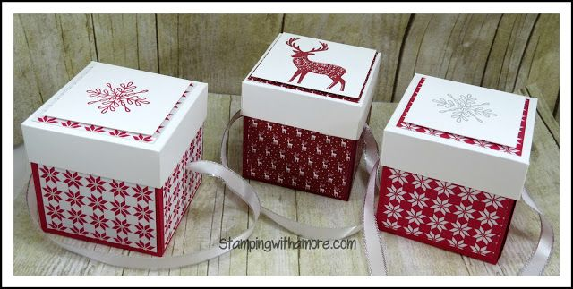 Stampingwithamore: WRAPPED IN ELEGANCE GIFT/TREAT BOX