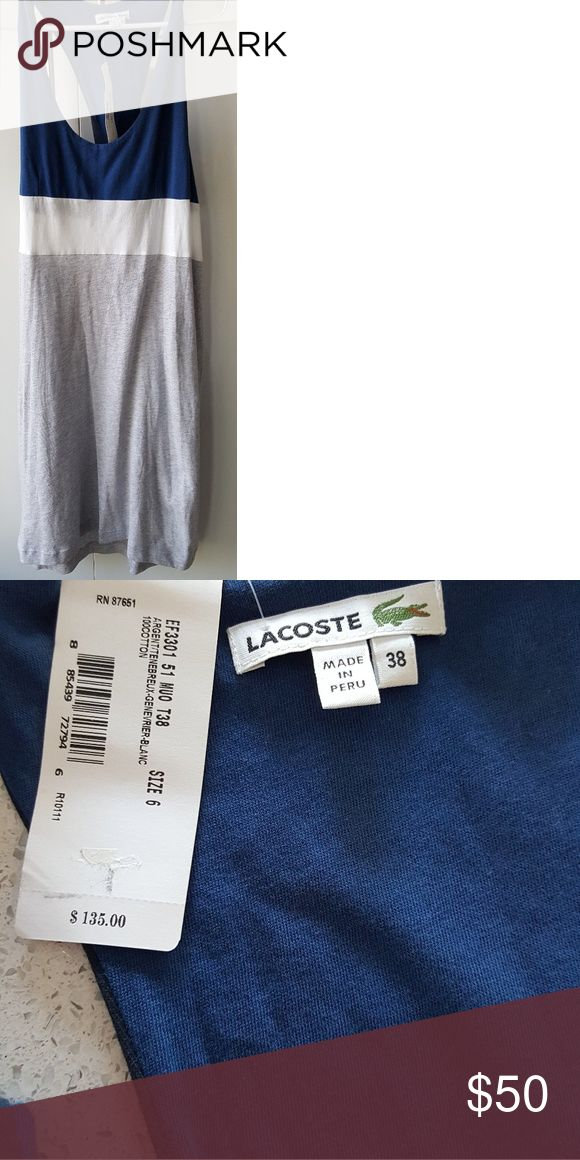 Lacoste dress 100% cotton dress knee length Lacoste Dresses Maxi