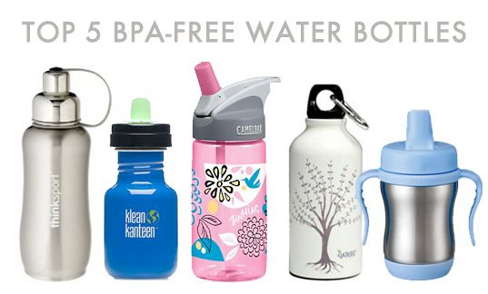 5 BPA FREE WATER BOTTLES. Your kids deserve a healthy water bottle in their lunchbox!