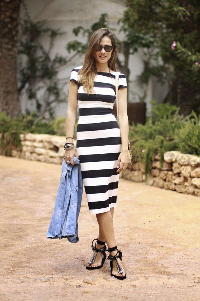 2014 Vestido rayas Zara /camisa vaquera Zara