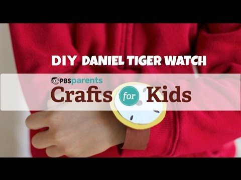 ▶ Make a Daniel Tiger Watch from cereal box cardboard and a toilet paper roll!