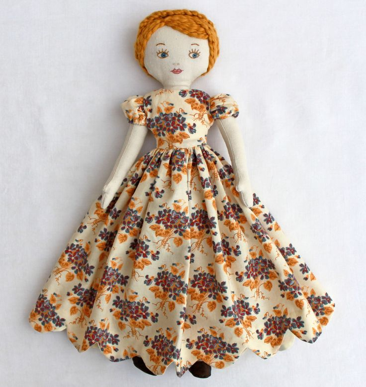 how to make a rag doll with strips of fabric