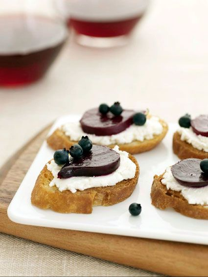 Beets on Crostini with Goat Cheese    http://www.thekitchn.com/appetizer-recipe-beets-on-cros-71528